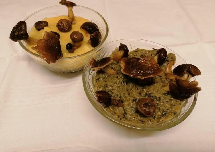 Recipe: Yummy Polenta bicolore coi funghi