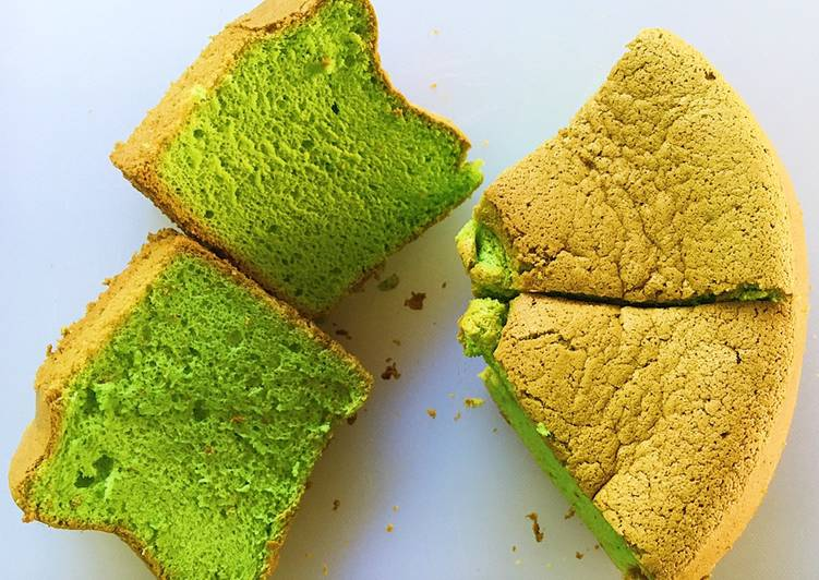Resep Matcha-Orange Chiffon Anti Gagal