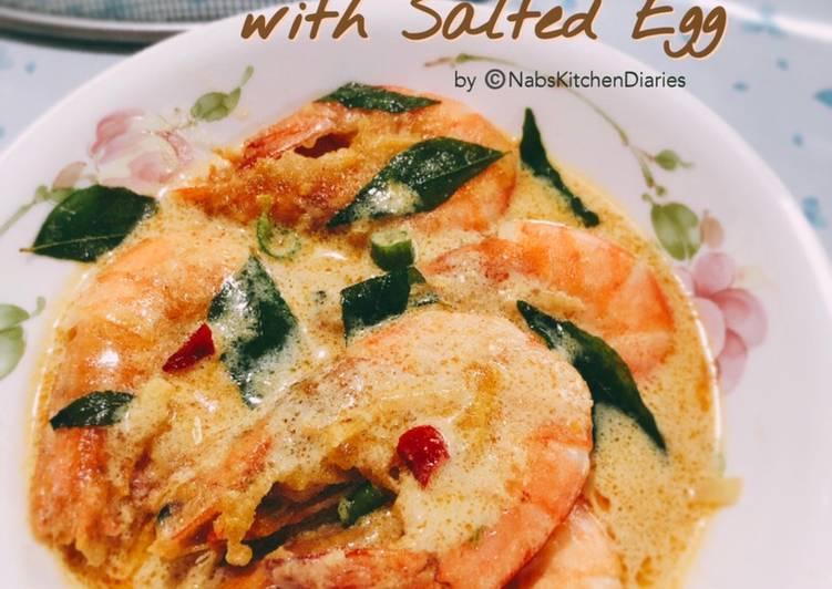 Resepi:  Buttermilk Prawn with Salted Egg (Udang Butter Susu Telur Masin)  Enak