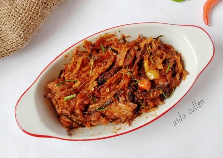 Balado tongkol suwir pedas - cookandrecipe.com