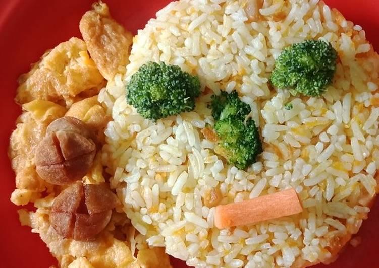 Nasi goreng sayuran (funy face)