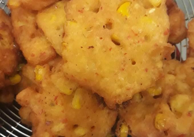 Perkedel jagung lembut no MSG n Micin (menu buka puasa)