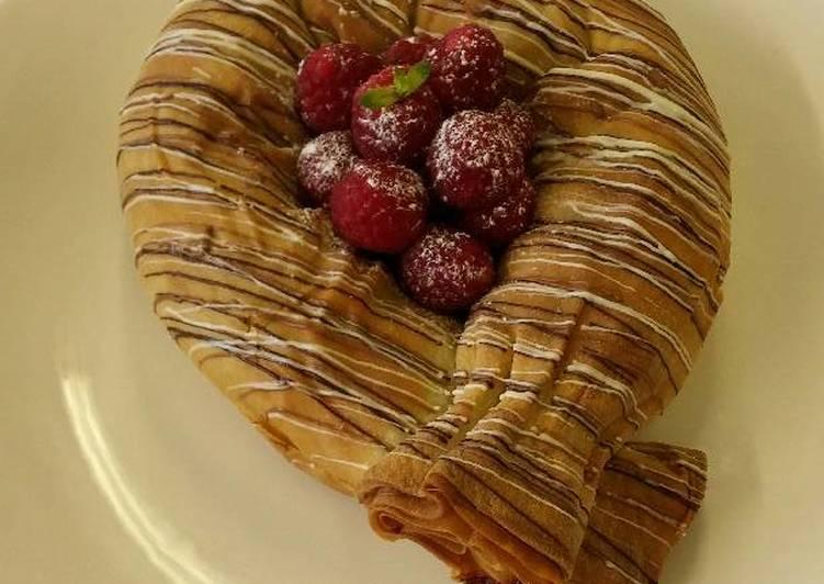 Recipe of Award-winning Apple and raspberry strudel
