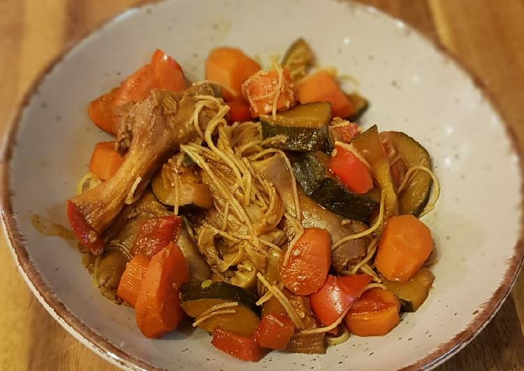 Asia Style Gemüse mit Glasnudeln