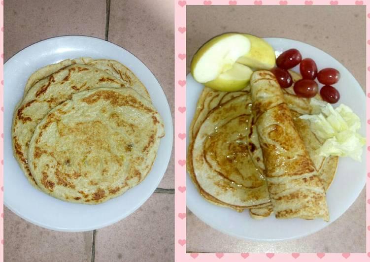 Fruit Oatmeal pancakes