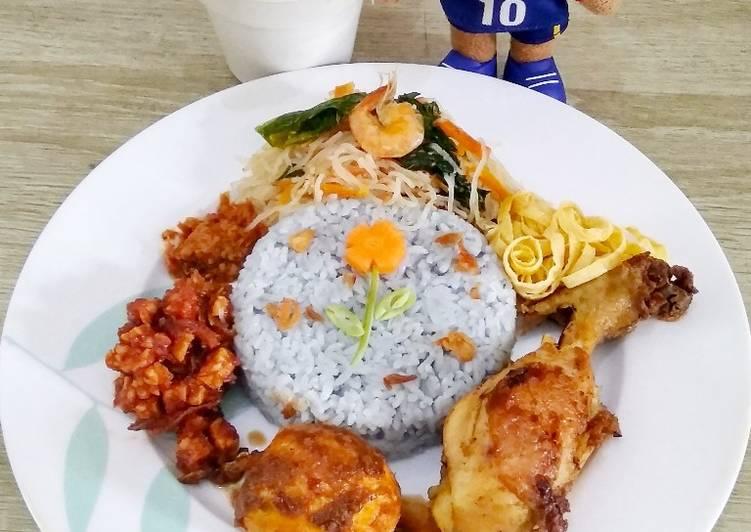 Nasi Uduk/Nasi Lemak Bunga Telang (Nasi biru)