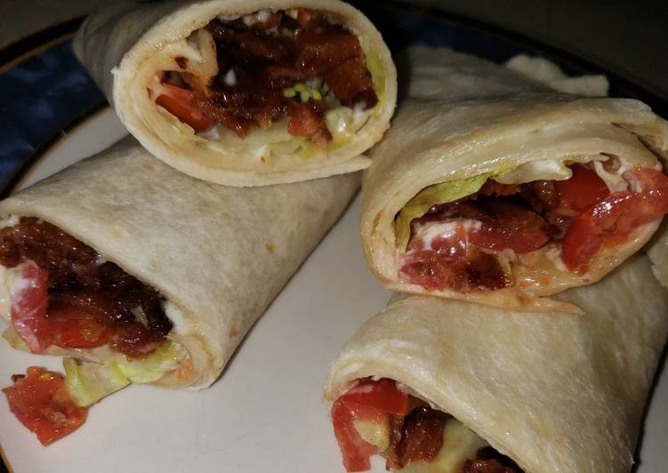 Easiest Way to Prepare Delicious B.L.T. Wraps