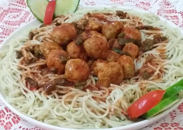 Meat Balls With Spaghetti