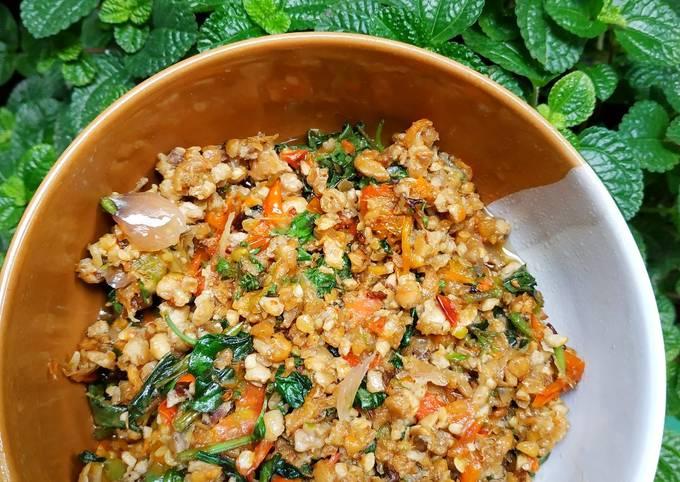 penyet tempe kacang kemangi sambel kencur - resepenakbgt.com