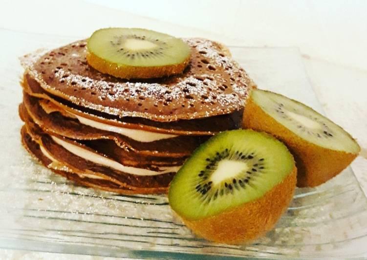 Recette Appétissante ☆Pancakes Chocolat☆