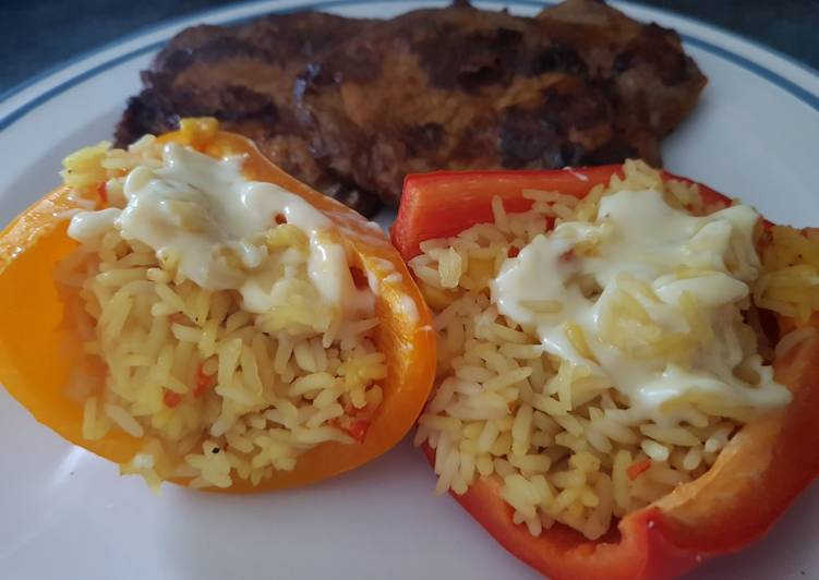 Steps to Prepare Super Quick Homemade Stuffed Peppers