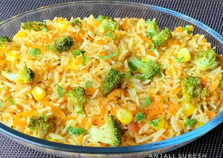 Broccoli & Veg Fried Rice !!