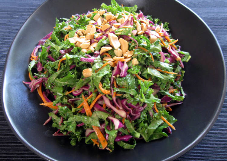 Steps to Prepare Favorite Kale Salad with Peanut Butter Dressing