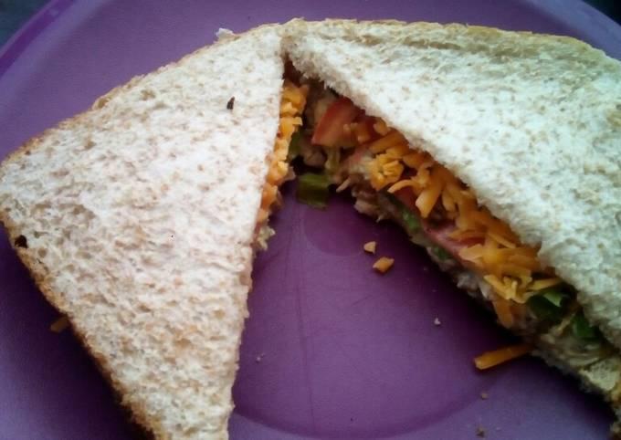 Quick chicken mayo sandwich
