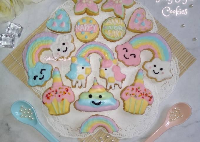 Almond icing sugar cookies