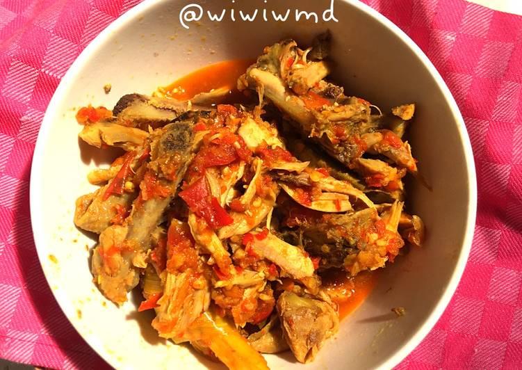 Ayam suir pedas dan sehat