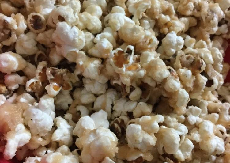 Recipe of Super Quick Homemade Caramel Popcorn