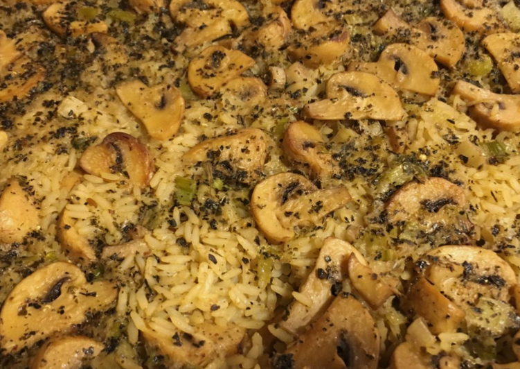 Recipe of Any-night-of-the-week Baked Mushrooms Rice