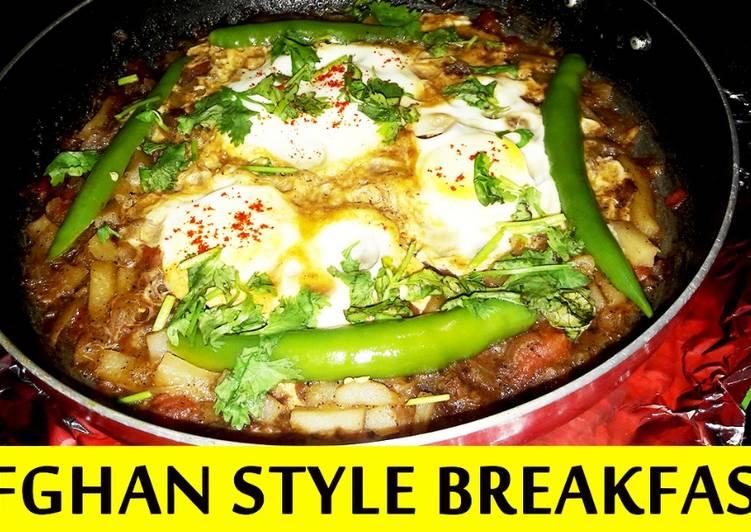 Afghan Style Egg Recipe (Breakfast)