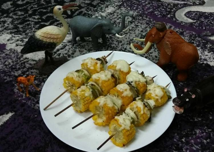 Cheesy Corn Kebabs