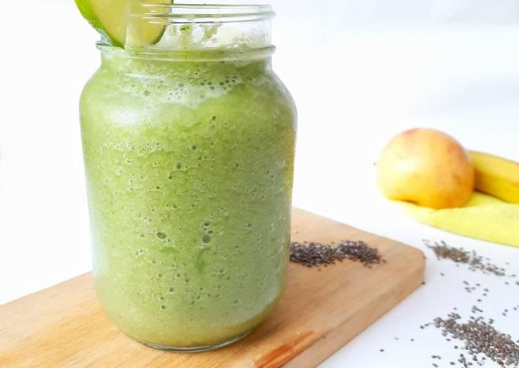 Fruits n Vegetable Smoothies (Banana, Apple, n Pakcoy)