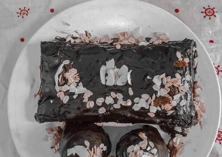 Choco cake ganache