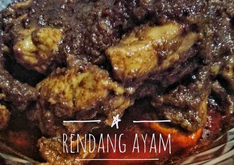 resep cara membuat Rendang Ayam