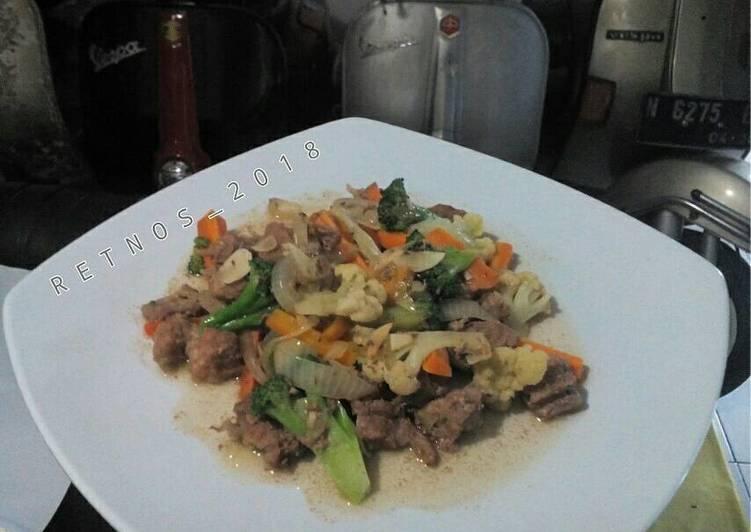 Cah Daging brokoli (diet)