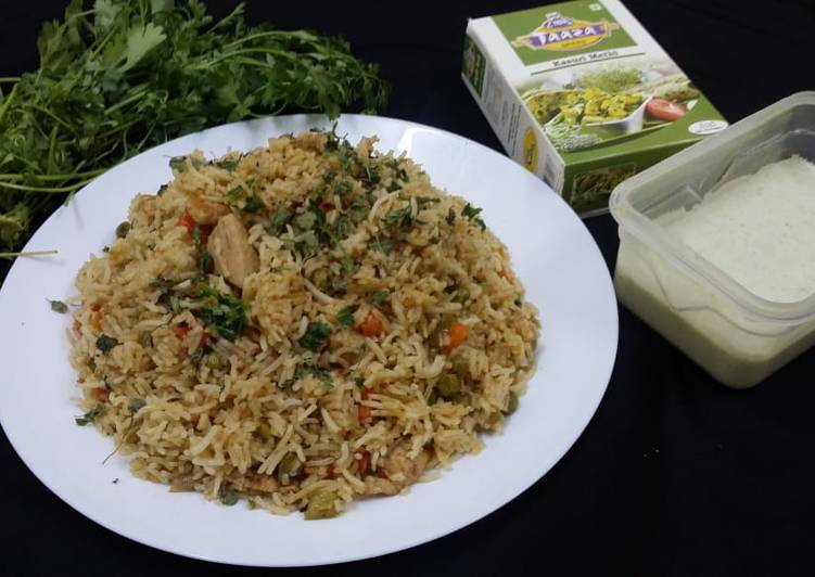 Chicken and Kasuri Methi Fried Rice