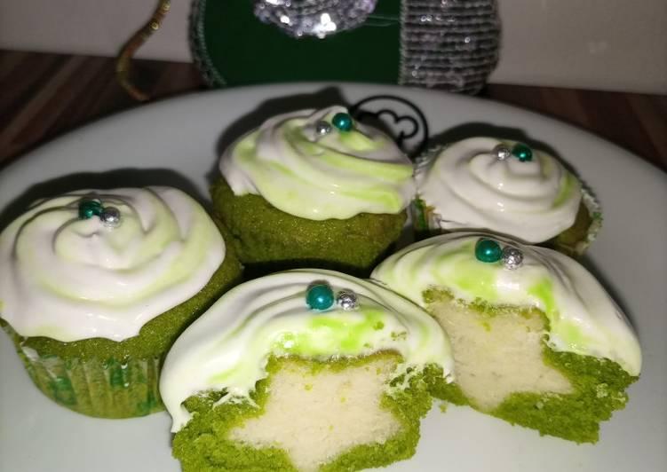 Surprise Green Velvet Cupcakes