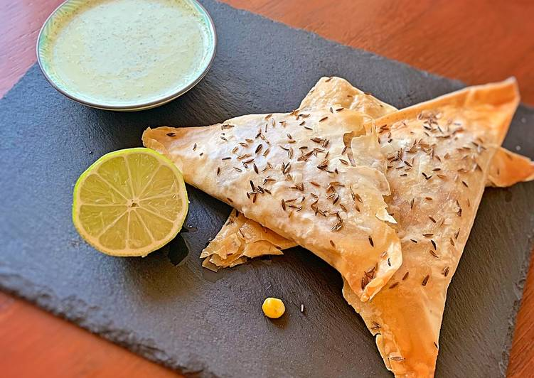 Sweet Corn and Feta Samosas