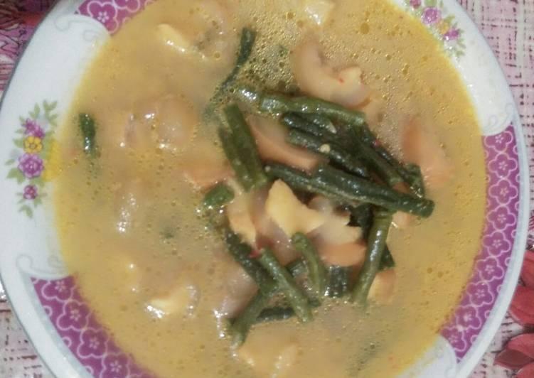 Gulai kikil sapi + kacang panjang(arni munawati) - cookandrecipe.com