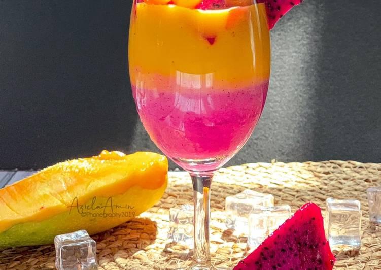 Smoothie Dragon Fruit & Manggo - resepipouler.com