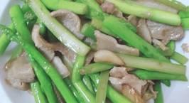 Hình ảnh món Thịt Ba chỉ xào măng tây