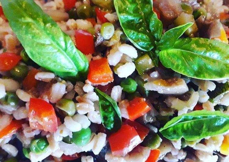 Ricetta A dieta con gusto: Farrorzo estivo, piatto unico facile e comodo