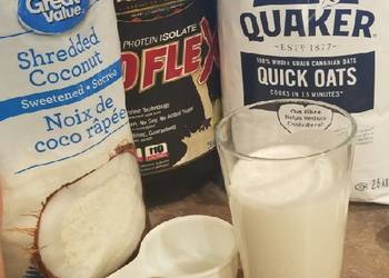 How to Recipe Appetizing Vanilla protein Oatmeal coconut smoothie