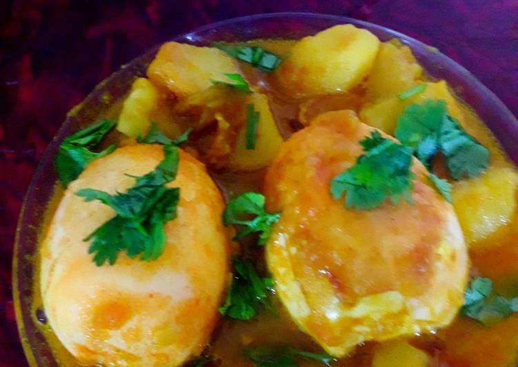 Steps to Prepare Ultimate Egg spicy potato curry