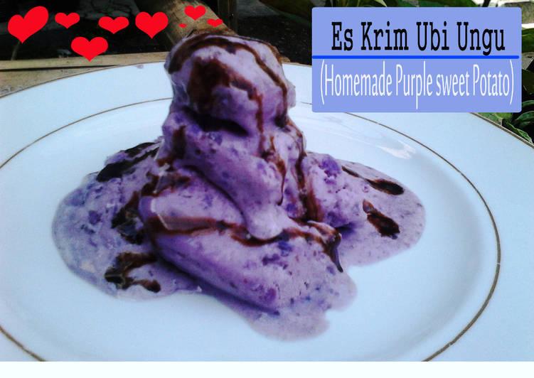 Resep Es Krim Ubi Ungu Simple Homemade Purple Sweet Potato Ice Cream Oleh Kreasi Mommy Bi Cookpad
