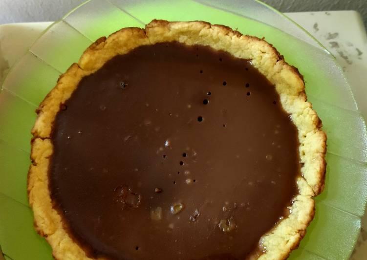 Pie susu coklat teflon