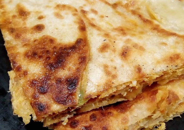 The Best Soft and Chewy Dinner Easy Homemade Pizzy Paratha