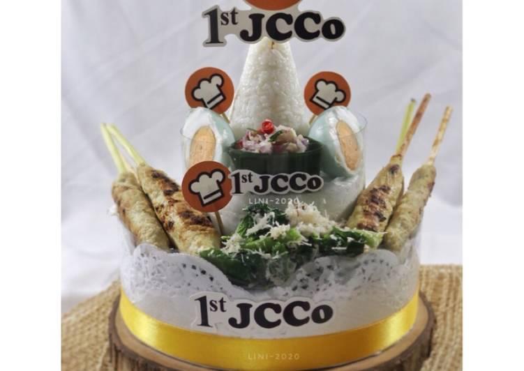 Nasi campur Bali JCCO 1st Anniversary - tumpeng mini bali