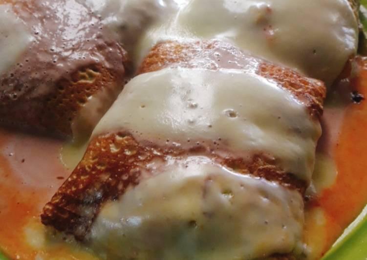 Crepes de espinaca y mozzarella