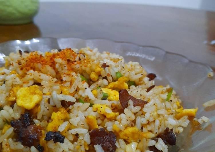 Nasi Goreng Dendeng Daging dan Lemak Sapi