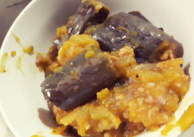 Stir-fry Squash and eggplant