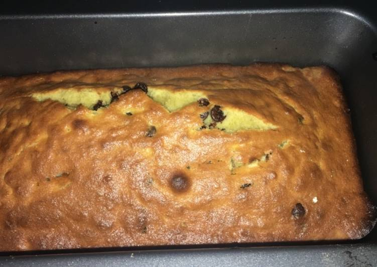 One bowl banana chocochip cake