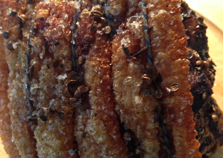 Simple Way to Make Quick Roast Pork with Crispy Crackling and Apple Sauce