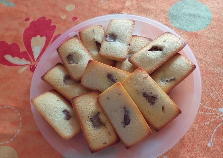 Financier, cœur pâte à tartiner sans huile de palme