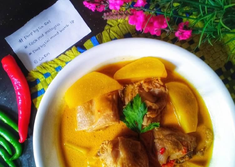 Masak Lemak Kerisik Ayam Kentang. #phopbylinimohd #batch18 - velavinkabakery.com