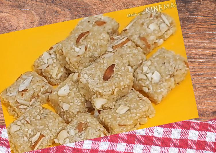 Sankranti Special Kesar Til Mava Barfi Recipe