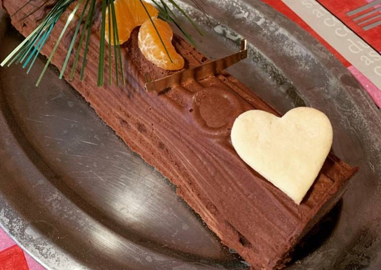 Recipes  ☆Bûche Brownie Chocolat☆